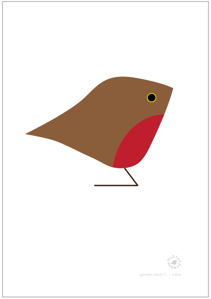 Robin. Garden Birds | series 1.