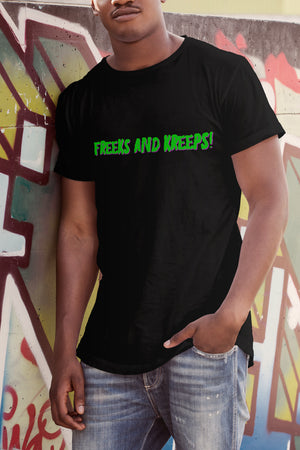 Snowy - Freeks and Kreeps Black T Shirt