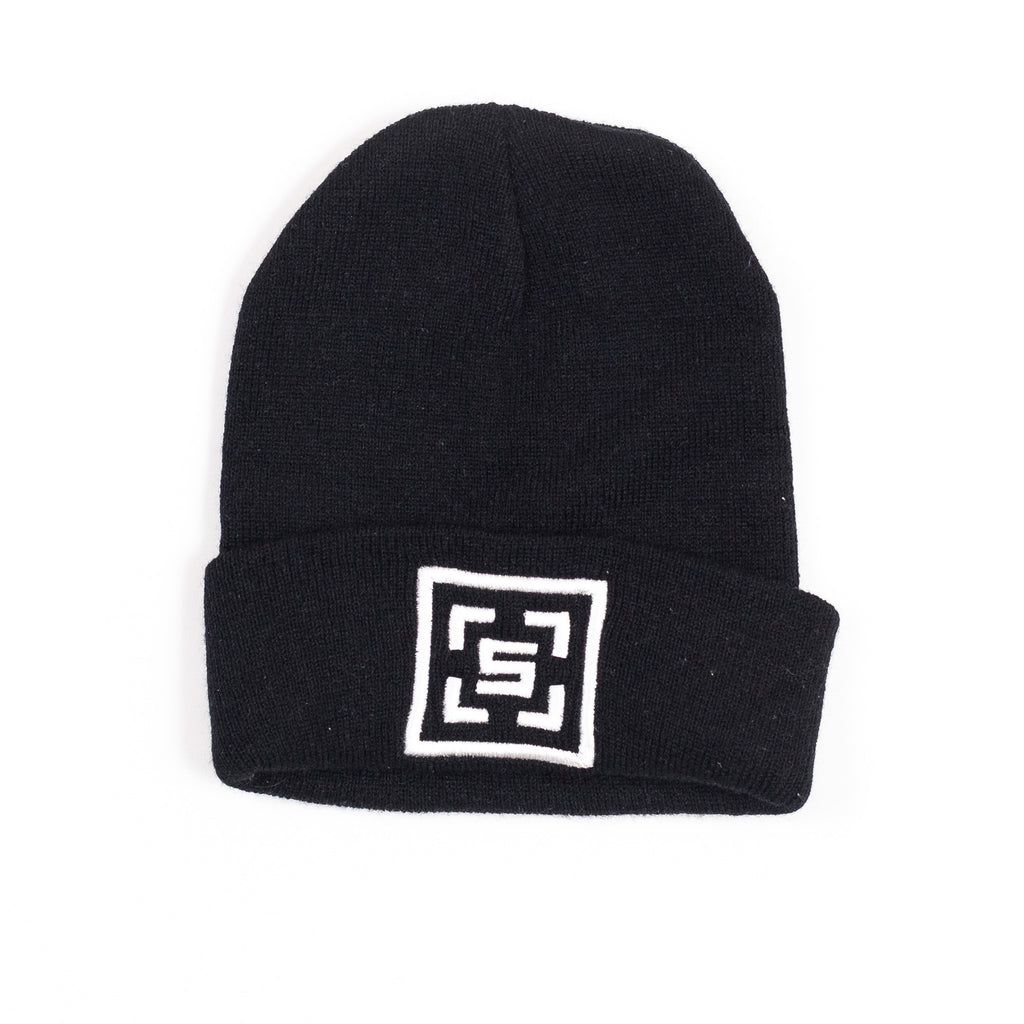 The Square Black Beanie