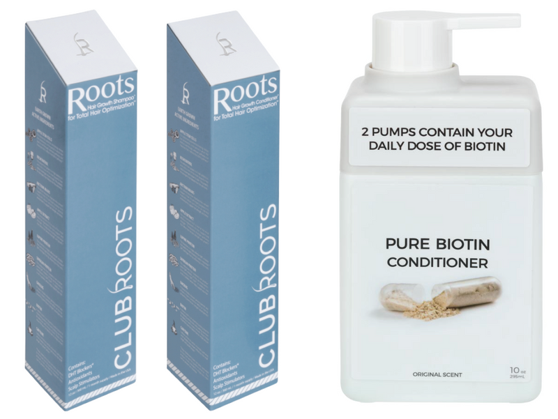 Roots Shampoo and Conditioner with Free Biotin