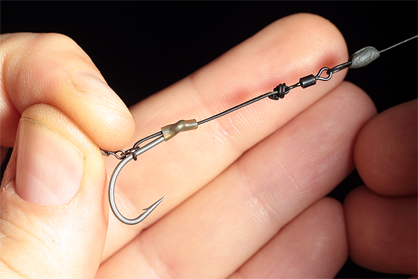 The finished Hinged multi rig is a superbly effective big carp rig, that is neat and refined with plenty of movement