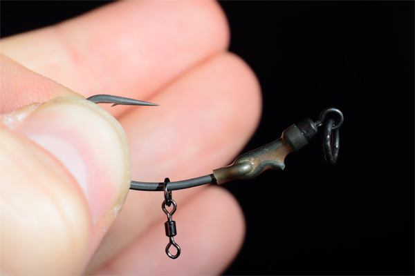 Slip your chosen hook bait attatchmnet onto the shank of the hook