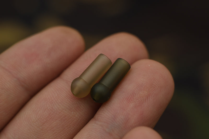 Helicopter buffer beads, available in trans khaki and trans green