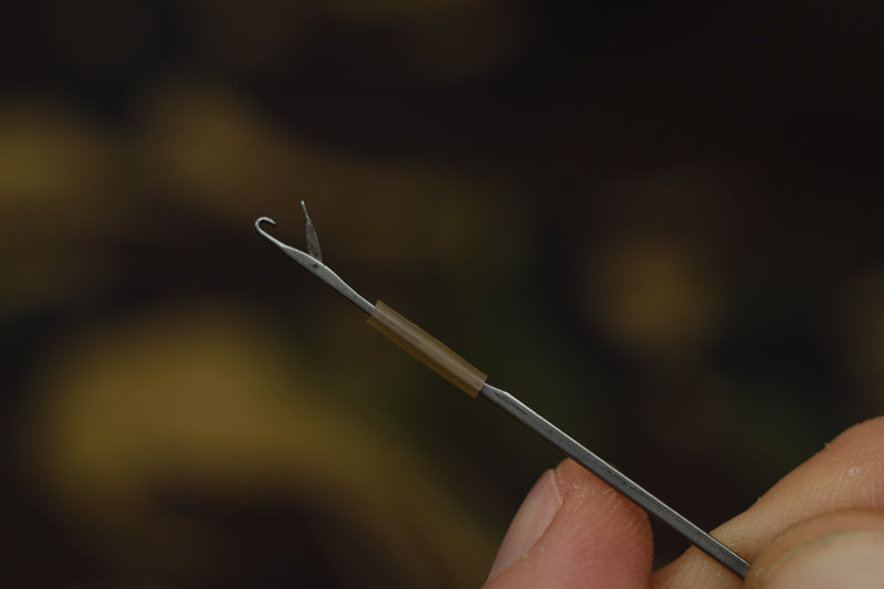 work the length of tubing onto your splicing needle