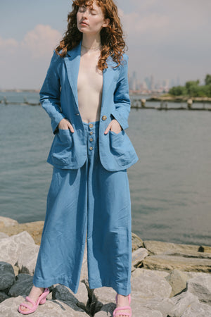 Be the Woman Trousers | Azure