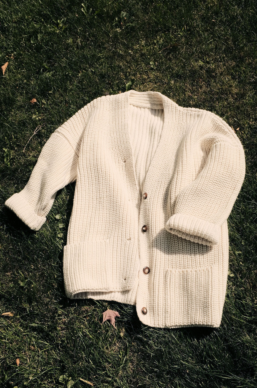 Suei long Cardigan | Undyed Wool