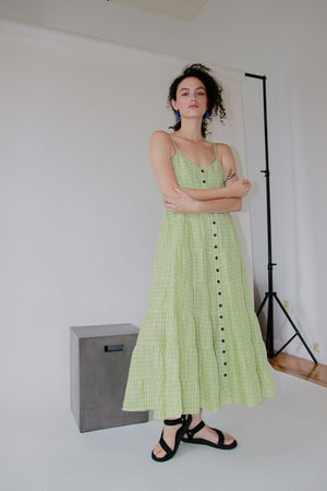 Baila Dress | Wasabi Gingham
