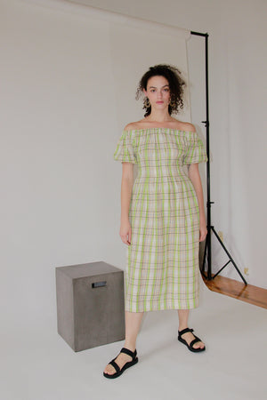 Anda Dress | Wasabi Gingham