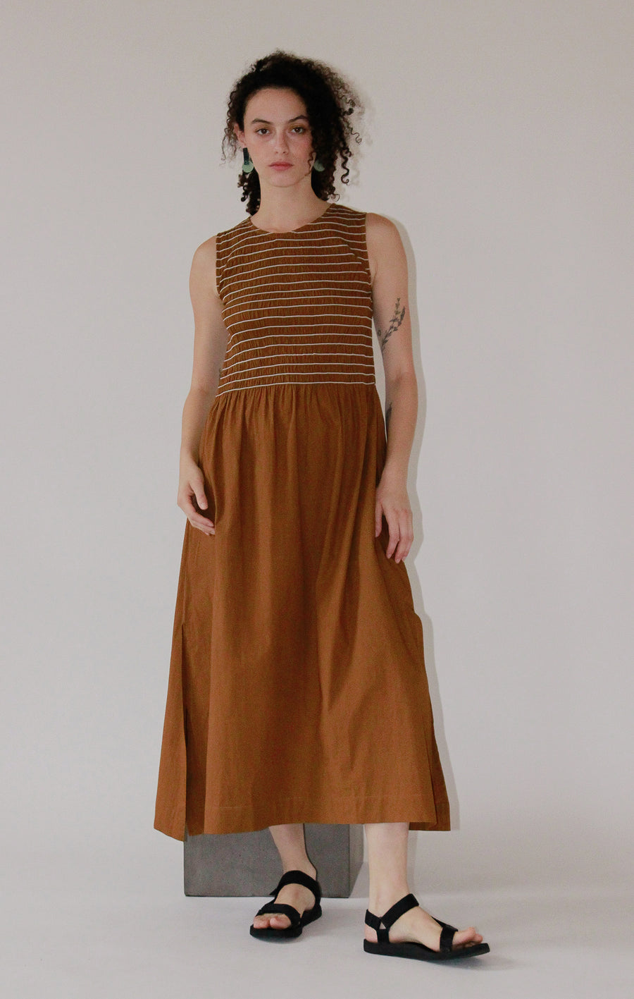 Smocking Lady Dress | Chai