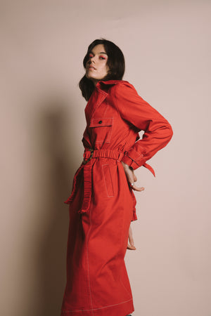 Mujer Trench | Rojo