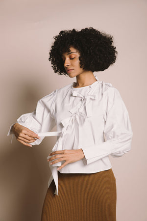Plaza Blouse | Cloud