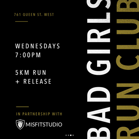 Bad Girls Collective Run and Stretch MISFITSTUDIO