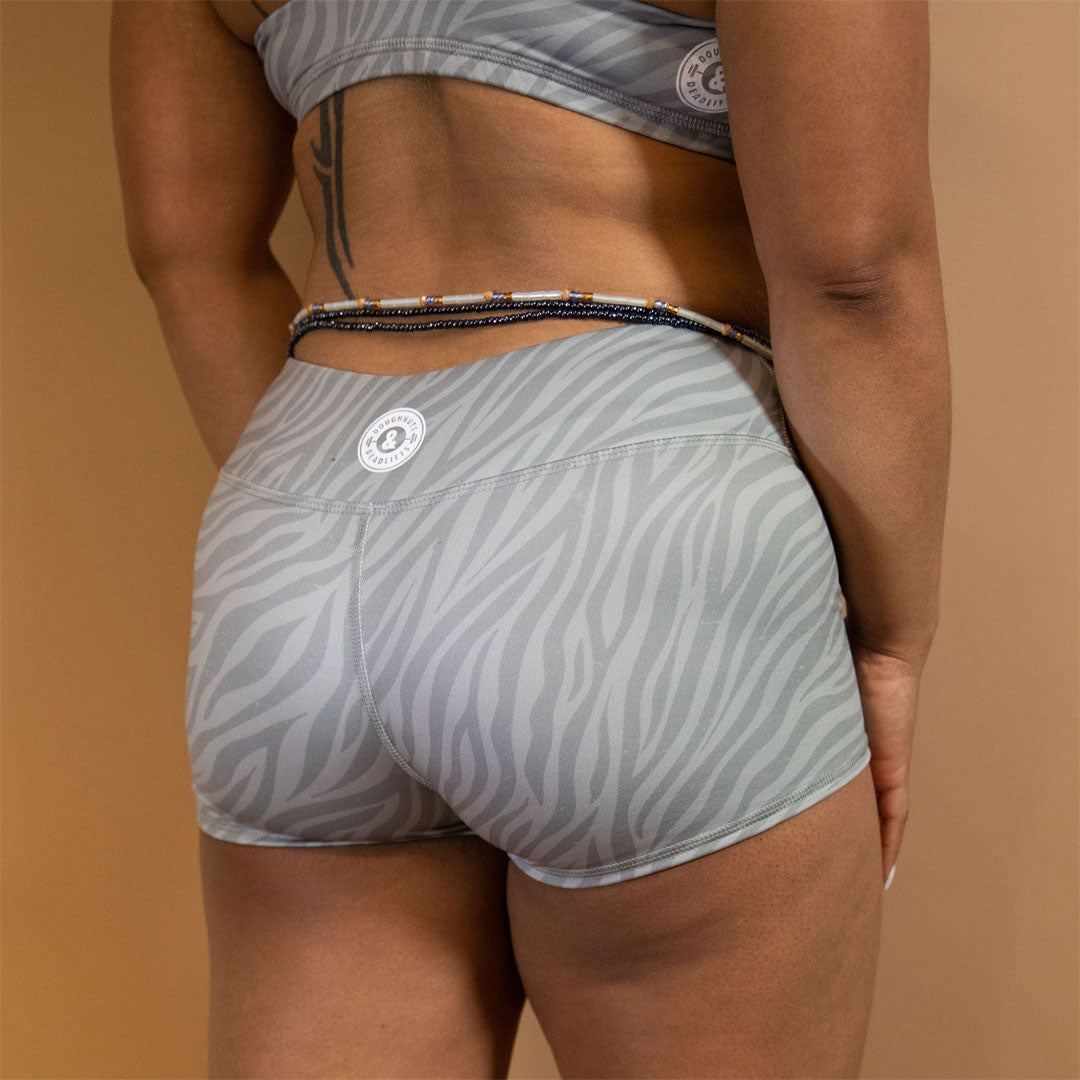 Platinum Zebra Shorts