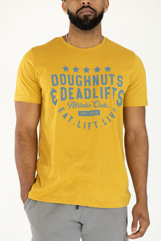 Athletic Club T-Shirt-Mustard