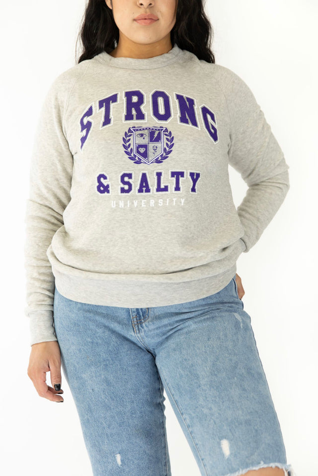 SALTY UNIVERSITY CREW NECK-CLOUDY DAZE
