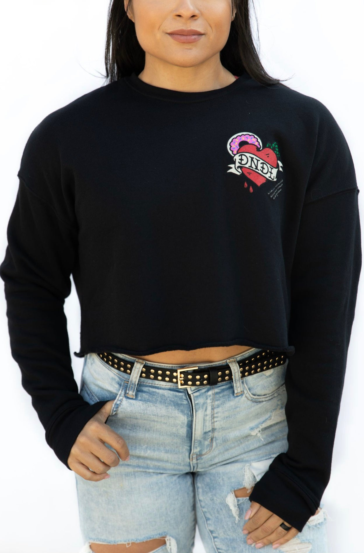 Doughnut Break My Heart Crop Sweatshirt