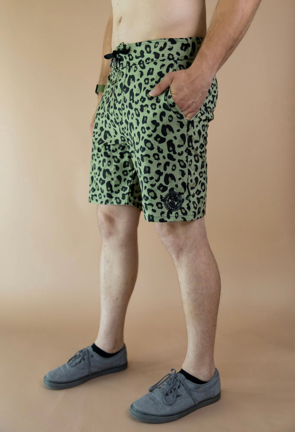 Sage Cheetah Shorts