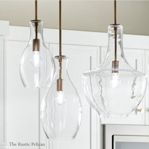 Large Modern farmhouse Glass Pendant Light