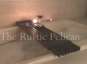 Modern Reclaimed Wood Bath Tray, Shower caddy