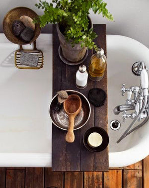 Rustic Wood Bath Tray, Bathtub Caddy