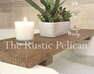Rustic reclaimed wood bathtub Caddy, Wood Bathtub Tray