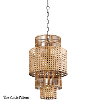 Large Chandelier-Modern Farmhouse-Pendant Light-Bamboo-Free Shipping
