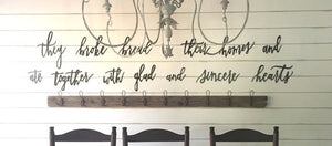 Coat Rack- 6' Foot Large Wood Modern Farmhouse -Vintage Hooks