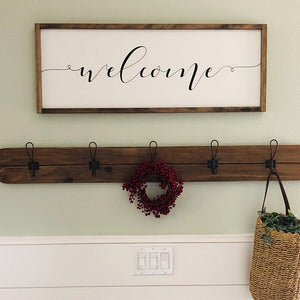 Modern Farmhouse Wall Mounted Wooden Coat Rack