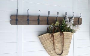 Rustic Coat Rack, Farmhouse decor, Entryway shelf, Reclaimed Wood Coat Rack