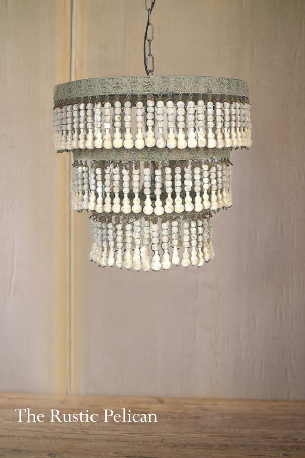 FREE SHIPPING - Large Modern Bohemian Beaded Chandelier
