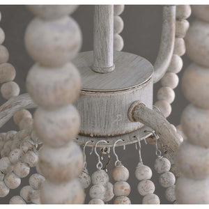 Modern Farmhouse Bohemian Coastal Beaded Chandelier