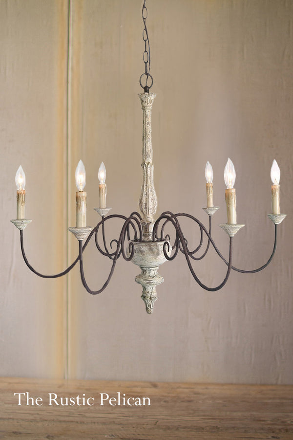 Modern Farmhouse wood Chandelier