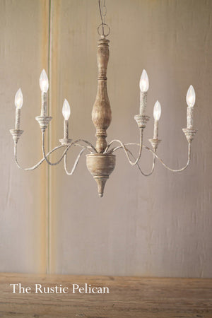FREE SHIPPING - Modern Farmhouse  Wood Chandelier