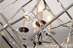 FREE SHIPPING ~Large Modern Chrome Chandelier
