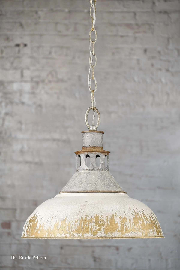 FREE SHIPPING ~ Modern Farmhouse Chandelier Rustic Aged Galvanize Steel