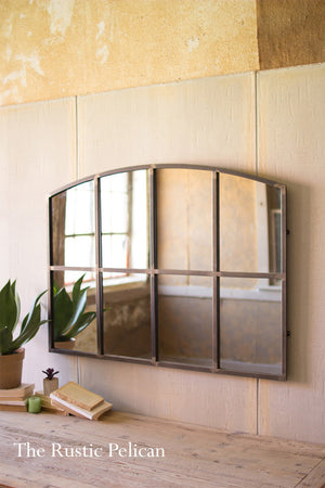 Modern Farmhouse Framed Window Mirror