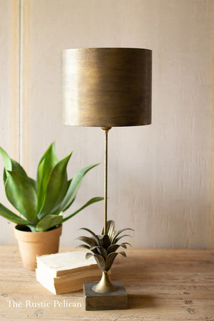 FREE SHIPPING - Antique Gold Table Lamp