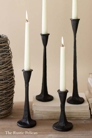Tall Cast Iron Candle Holders