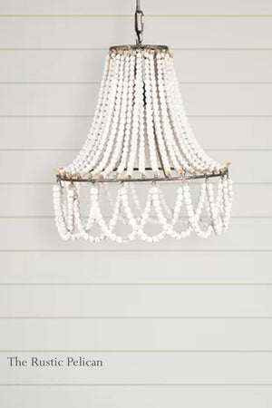 Bohemian Beaded Coastal Chandelier