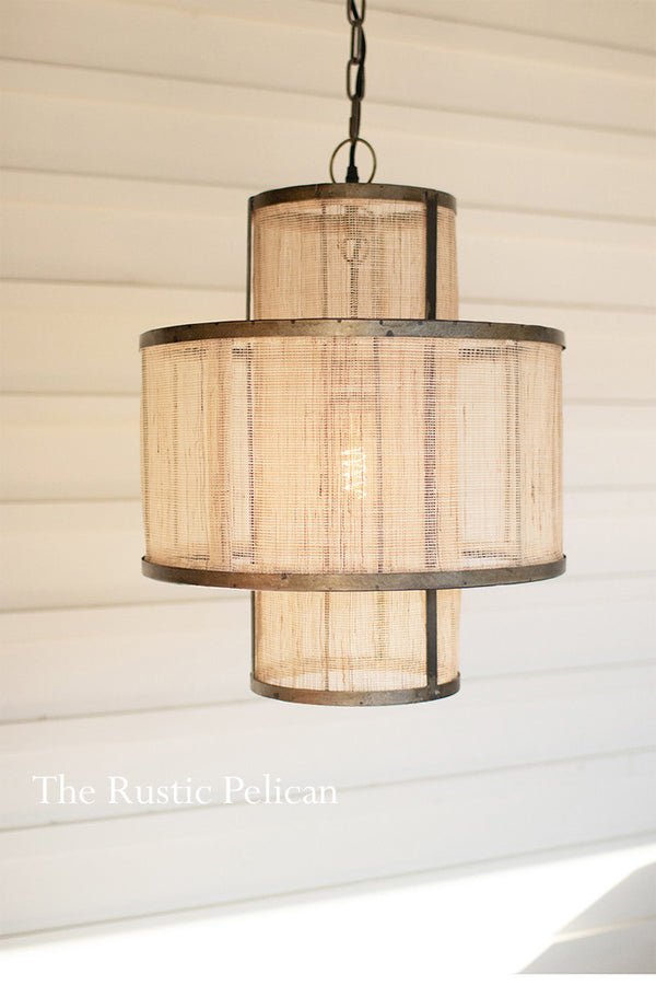 Modern Farmhouse Boho Chandelier