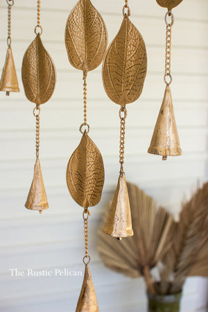 Metal Leaf Wind Chimes