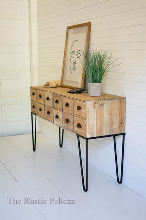 Modern Farmhouse Wooden Chest with 12 Drawers