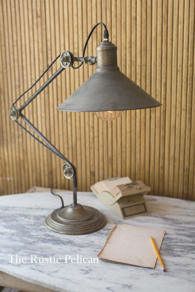 Table Lamp Modern Farmhouse Vintage Fixer Upper Free Shipping The Rustic Pelican
