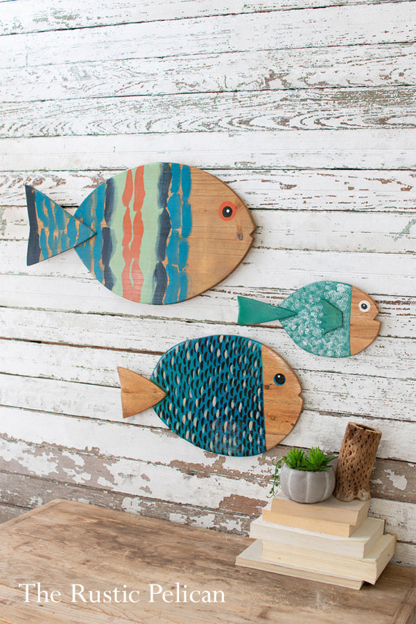 Hand Painted Wooden Fish