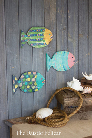 Wooden Fish - Beach Decor - Nautical - Wall Art,