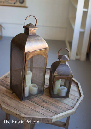Modern Farmhouse antique Bronze Lanterns