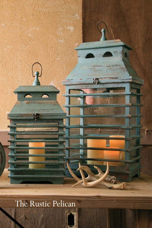Lanterns -Modern Coastal Beach Decor set of 2