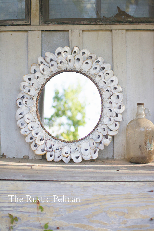 Nautical-Wall Decor-Shell-Mirror