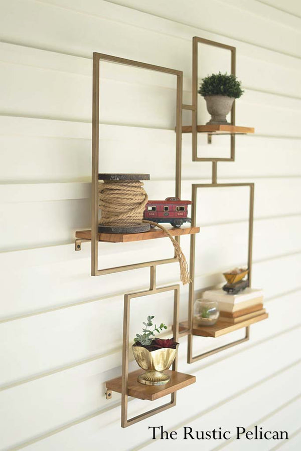 FREE SHIPPING ~ Modern farmhouse storage shelves Set of 4