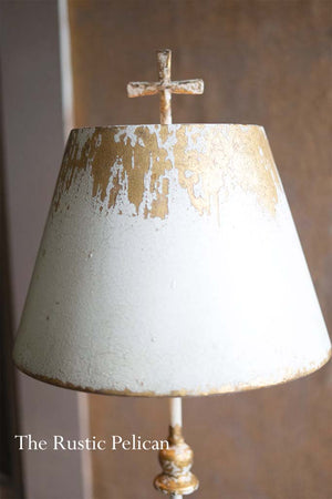Modern Farmhouse table lamp with metal shade